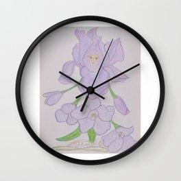Flor de Fantasias Larkspur Wall Clock
