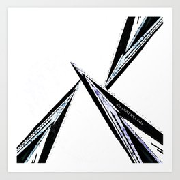 White as Steel Art Print