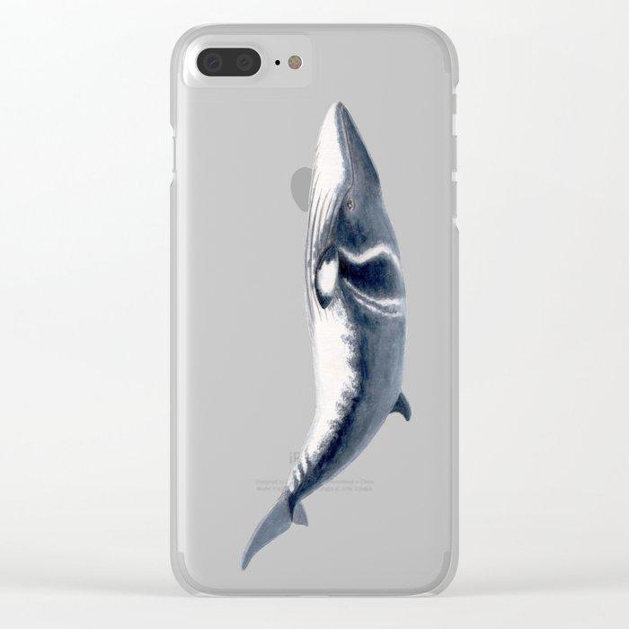Baby Minke whale Clear iPhone Case