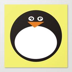 CVAn0050 Whimsical Circle Penguin Canvas Print
