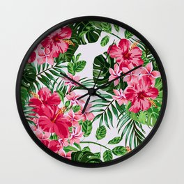 Green Tropical Mood Wall Clock