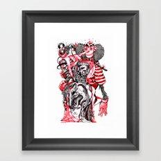 red wood Framed Art Print