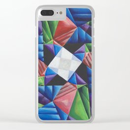 Square Pinwheel Clear iPhone Case