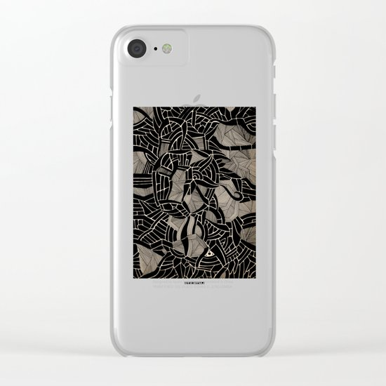 - cosmophobic cow - Clear iPhone Case