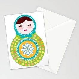 babushka doll matryoshka Stationery Cards