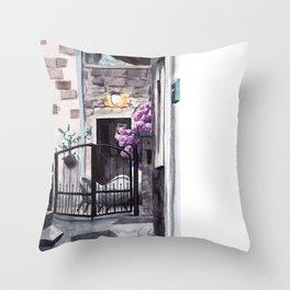Cozy secret backyard Throw Pillow