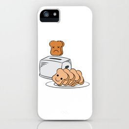"""Cute and adorable loafs that's perfect for gift with text """"Funny bread lover"""" iPhone Case"""