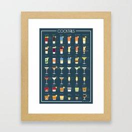 Cocktails Framed Art Print