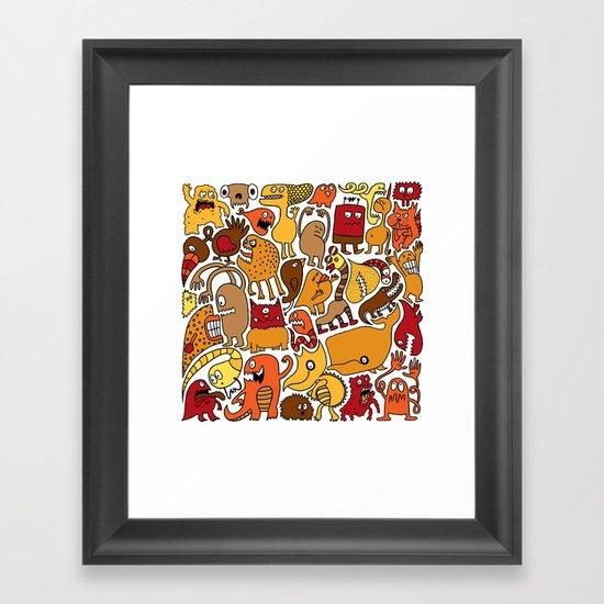 Creatures! Framed Art Print