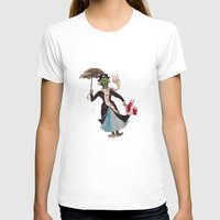 mary poppins T-shirts featuring Zombie Mary Poppins by Brendan Purchase