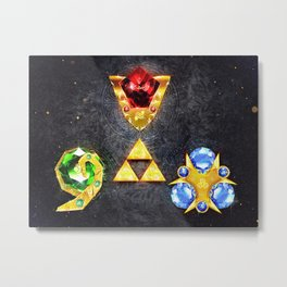 The Timeless Legend of Zelda Inspired Spiritual Stones Metal Print