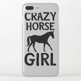 horse horse horse love animal love gift rider equestrian sport Clear iPhone Case