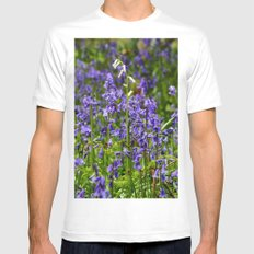 Rare White Bluebell SMALL White Mens Fitted Tee