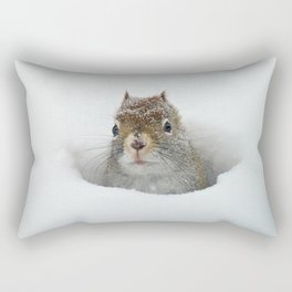 Pop-up Squirrel in the Snow Rectangular Pillow