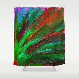 Funky Bright Flower Shower Curtain