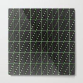 Neon geometric pattern 1 - Green Metal Print