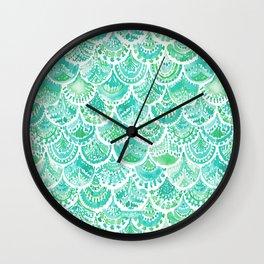 VENUS DE MER Aqua Mermaid Scales Wall Clock