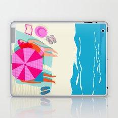 Toasty - memphis throwback minimal retro neon beach surfing suntan waves ocean socal pop art Laptop & iPad Skin