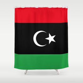 Official flag of the state of Libya, Authentic version to scale and color Shower Curtain