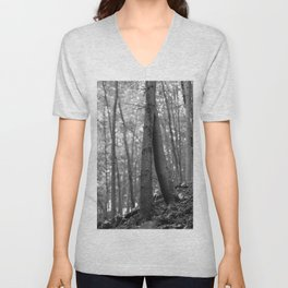 Old love, black and white photography trees Unisex V-Neck