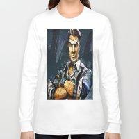borderlands Long Sleeve T-shirts featuring Borderlands Handsome Jack by Joe Misrasi