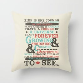 There Is So Much To See Throw Pillow