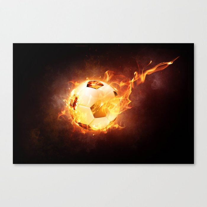 Fire Football Canvas Print