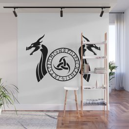 Norse Dragon - Triple Horn of Odin Wall Mural