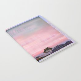 Plaid Landscape Tranquil Sunset Notebook