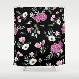 Magnolias, anemones, geranium and eucalyptus Shower Curtain