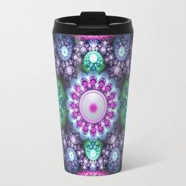 Decorative round patterns, fractal abstract Travel Mug