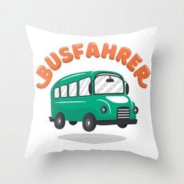 bus driver bus Throw Pillow
