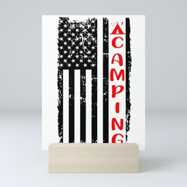Camping American Camper Outdoor Activity Hike Gift Mini Art Print