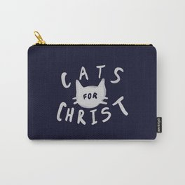 Cats for Christ x Navy Carry-All Pouch