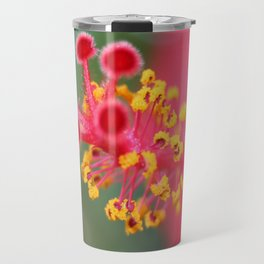 Macro Close Up Of Hibiscus Pollen  Travel Mug