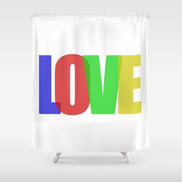 Love (Color) Shower Curtain