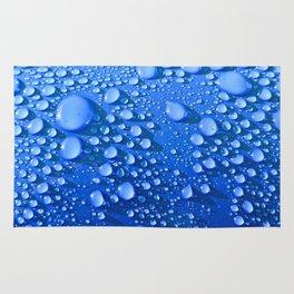 Raindrops on Blue Rug