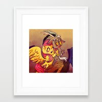 mlp Framed Art Prints featuring MLP: Fluttercord by Erika Draw