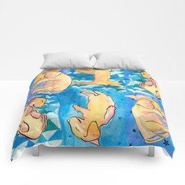 Sleeping Daschund Comforters
