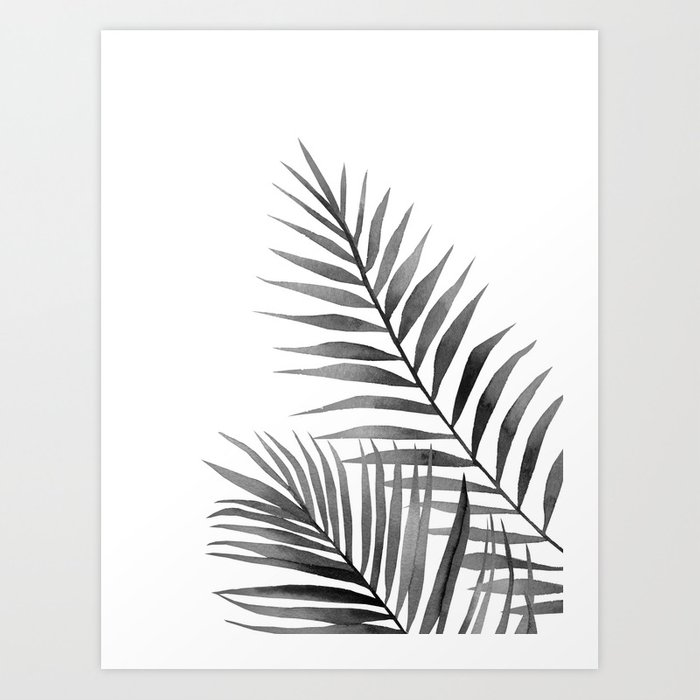 Discover the motif BLACK AND WHITE LEAVES. by Art by ASolo as a print at TOPPOSTER