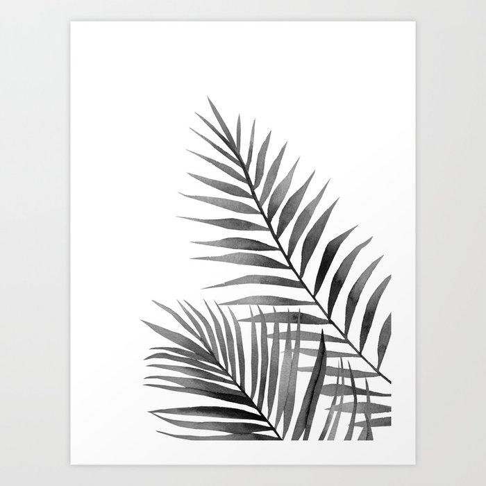 Descubre el motivo BLACK AND WHITE LEAVES. de Art by ASolo como póster en TOPPOSTER
