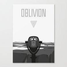 Oblivion (2013) - minimal poster Canvas Print