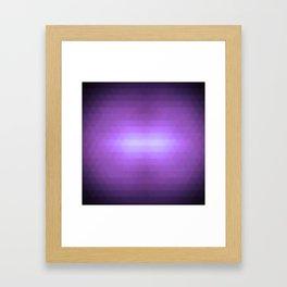 Purple lips Framed Art Print