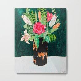 Tiger Vase Metal Print