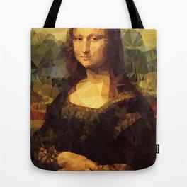 Mona Lisa | Polygon Art Tote Bag