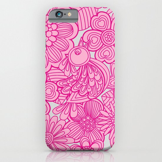 """Welcome birds to my pink garden"" iPhone & iPod Case"
