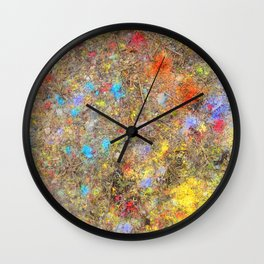 Aftermath of a Color Explosion Wall Clock