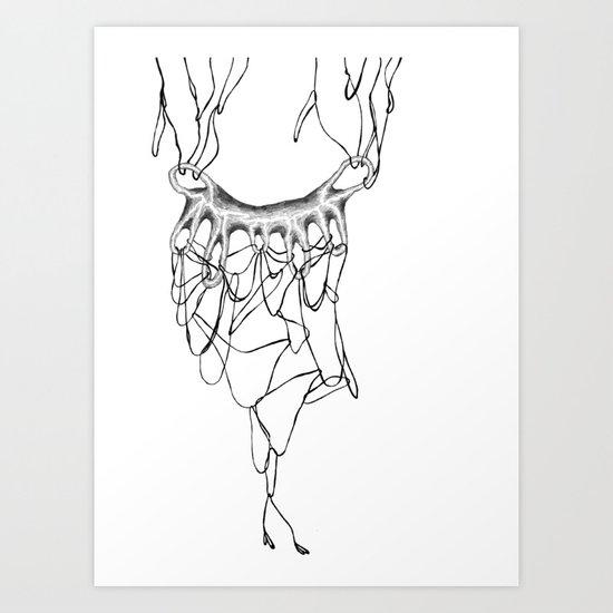 TEARS IN LA LAND Art Print