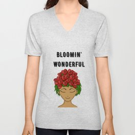 Bloomin' Wonderful Unisex V-Neck