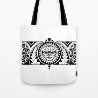 maori Tote Bags featuring Maori by Reiv